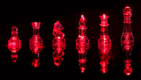 Red chess pieces Royalty Free Stock Photography