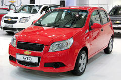 Red Chevrolet Aveo Stock Photography