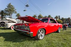 Red Chevrolet Chevelle stock photo