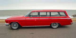 Red Chevrolet Impala Station Wagon Royalty Free Stock Photography