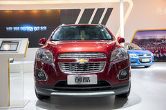 Red chevrolet trax car. In the 2014 china zhengzhou  international automotive exhibition Stock Photography
