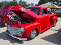 Red Chevy Antique Pick Up Truck Side View Royalty Free Stock Images