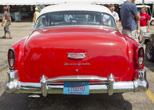 1954 Red Chevy Bel Air rear view royalty free stock photography
