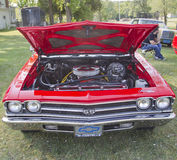 Red Chevy Chevelle SS Front View Stock Images