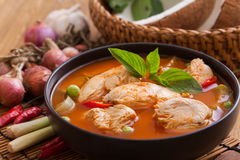 Red Chicken Curry. Thai cuisine royalty free stock image