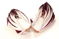 Red chicory halves Stock Photography