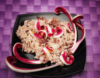 Red chicory risotto Stock Photo