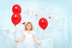 Red child dream Stock Photo