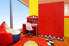 Red children room Stock Image