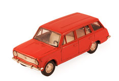 Red children's toy car model Royalty Free Stock Images