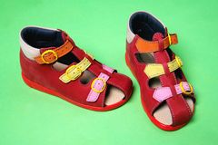 Free Red Childrens Shoes Royalty Free Stock Photography - 5769917