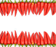 Red chili frame Stock Image