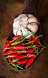Red chili and garlic Stock Image