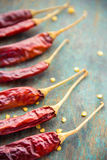 Red Chili. Hot red dried chili peppers - important ingredient for Asian cooking Stock Photography