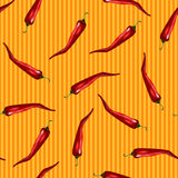 Red chili pattern Royalty Free Stock Photography