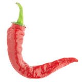Red chili pepper. Isolated on white, clipping path included Stock Image