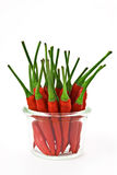 Red chili pepper. In a cup Stock Photography