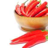 Red chili pepper and black pepper spicy  on white backgr. Ound Stock Photos