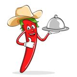 Red Chili Pepper with Cow Boy Hat Royalty Free Stock Photography