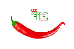Red chili pepper isolated on a white Royalty Free Stock Photos