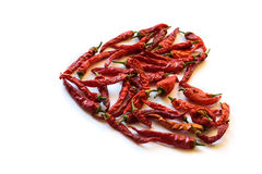 Red chili pepper isolated on a white background.  Royalty Free Stock Image