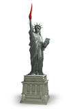 Red Chili pepper of Liberty. Statue of Liberty holding a red hot chili Pepper. Illustration of Immigration`s US Politics since 2017 Stock Image