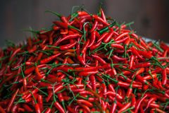 Red Chili Pepper. S on fresh food market at Sapa village, Vietnam stock photos