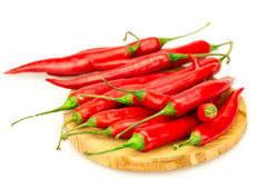 Red chili pepper on white background Royalty Free Stock Photo