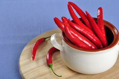 Red chili peppers Royalty Free Stock Images