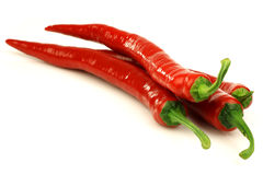 Red chili peppers (Capsicum) Stock Image