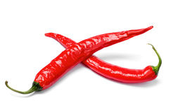 Red chili peppers cross Royalty Free Stock Photos