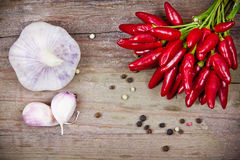 Red chili peppers Royalty Free Stock Photography