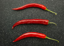 Red chili peppers Stock Image