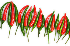 Red chili peppers isolated Stock Image