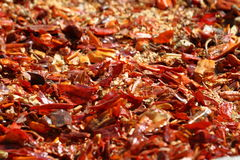 Red chili peppers on a market in Ethiopia Royalty Free Stock Photo