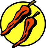 Red chili peppers vector illustration Stock Photos