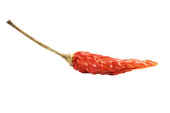 Red chili peppers on a white background.  Royalty Free Stock Photos