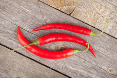 Red chili peppers Stock Images