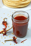 Red chili sauce Royalty Free Stock Images