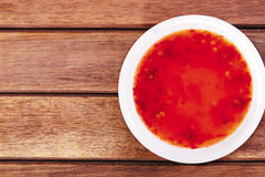 Red chili sauce Royalty Free Stock Photography
