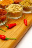 Red chili and spice Royalty Free Stock Photos