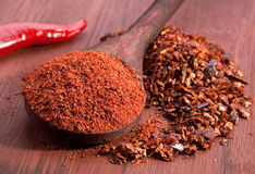 Red chili and sweet pepper stock photo