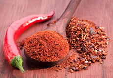 Red chili and sweet pepper Royalty Free Stock Photos