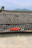 Red chilies on rooftop Royalty Free Stock Photography