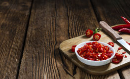 Red Chilis (cutted) Royalty Free Stock Images