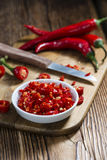 Red Chilis (cutted) Stock Images
