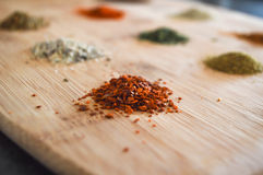 Red Chilli. Dried red chilli flakes used in cooking Royalty Free Stock Photography