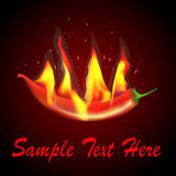 Of red chilli flames and sparks Stock Image