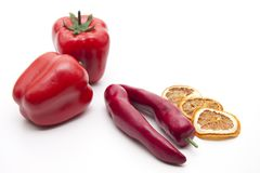 Red chilli and lemon Royalty Free Stock Photos