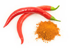 Red chilli pepper or cayenne pepper Royalty Free Stock Image